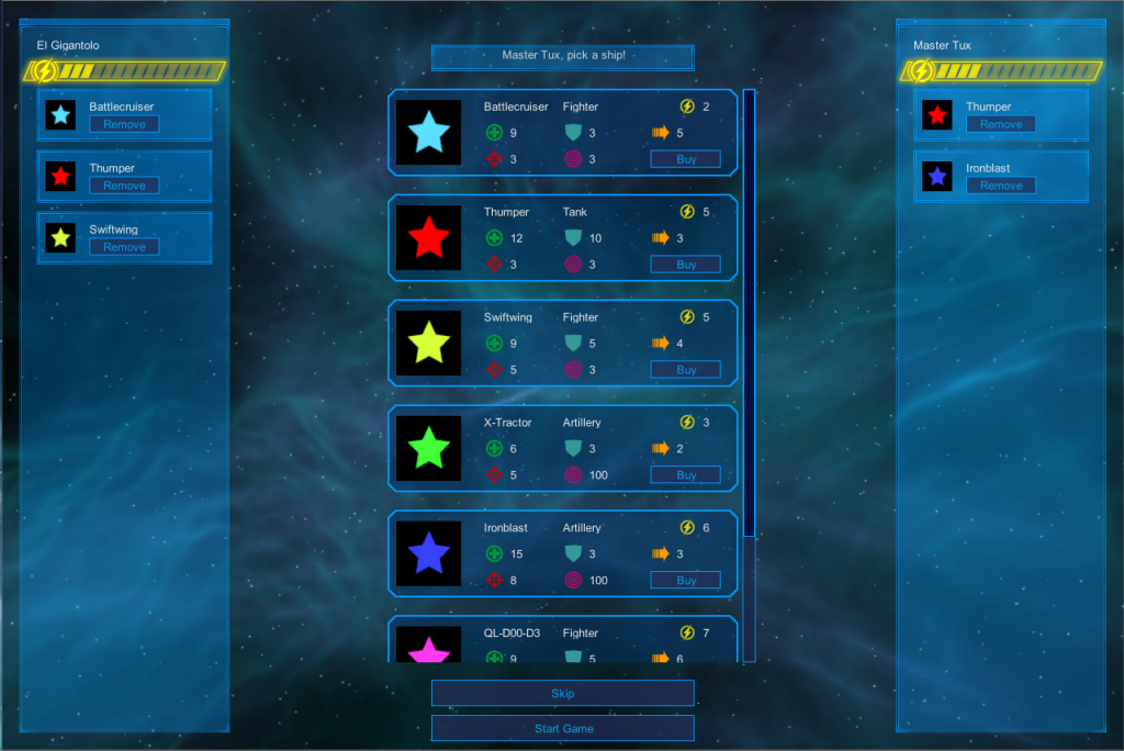 Screenshot selection menu